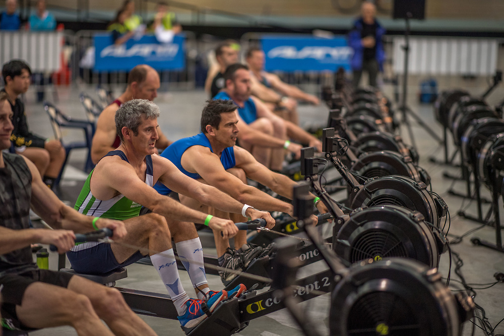 Competing on Concept 2 ergometers at the 2018 NZ Indoor Rowing Championships. Avanti Drome, Cambridge,  Saturday 24 November 2018 © Copyright photo Steve McArthur / @RowingCelebration www.rowingcelebration.com