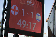 England pegged back during the UEFA European Under 17 Championship 2018 match between England and Israel at Proact Stadium, Whittington Moor, United Kingdom on 4 May 2018. Picture by Mick Haynes.