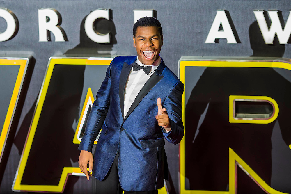 John Boyega  - The European Premiere of STAR WARS: THE FORCE AWAKENS - Odeon, Empire and Vue Cinemas, Leicester Square, London.