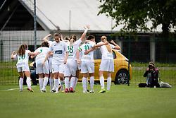 Team of Olimpija celebrating second goal during football match between ZNK Pomurje and ZNK Olimpija in 21st Round of Slovenska zenska nogometna liga 2020/21, on 22 of May, 2021 in TSC Trate, Gornja Radgona, Slovenia. Photo by Blaž Weindorfer / Sportida