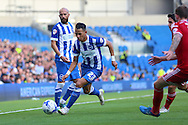 Brighton defender, full back, Liam Rosenior on the ball during the Sky Bet Championship match between Brighton and Hove Albion and Cardiff City at the American Express Community Stadium, Brighton and Hove, England on 3 October 2015. Photo by Phil Duncan.