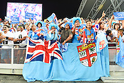 Fiji fans (FIJ), APRIL 17, 2016 - Rugby : HSBC Sevens World Series, Singapore Sevens match Kenya and Fiji (Cup Finals) at National Stadium in Singapore. (Photo by Haruhiko Otsuka/AFLO)