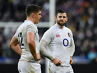 Rugby Union - 2020 Guinness Six Nations Championship - France vs. England<br /> <br /> England's Elliot Daly \with Owen Farrell at the final whistle, at The Stade de France, Paris.<br /> <br /> COLORSPORT/ASHLEY WESTERN