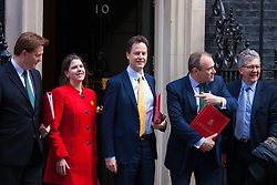 London, March 24th 2015. Members of the Cabinet gather at Downing street for their weekly meeting. PICTURED:
