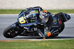 August 12, 2018 - Spielberg, Austria - 10 Italian driver Luca Marini of Team SKY Racing Team VR46 race during warm up of Austrian MotoGP grand prix in Red Bull Ring  in Spielberg, on August 12, 2018. (Credit Image: © Andrea Diodato/NurPhoto via ZUMA Press)