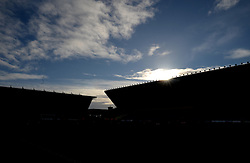 silhouette inside the Kassam stadium.  - Mandatory byline: Alex James/JMP - 10/01/2016 - FOOTBALL - Kassam Stadium - Oxford, England - Oxford United v Swansea City - FA Cup Third Round