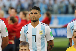 June 26, 2018 - St. Petersburg, Russia - June 26, 2018, Russia, St. Petersburg, FIFA World Cup 2018, First round, Group D, Third round. Football match of Nigeria - Argentina at the stadium of St. Petersburg. Player of the national team Ever Banega. (Credit Image: © Russian Look via ZUMA Wire)