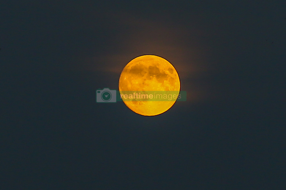 July 26, 2018 - London, London, United Kingdom - Blood Moon Above North London. ..Blood moon above north London. On Friday 27 July, a total lunar eclipse will be visible from almost all parts of the world. (Credit Image: © Dinendra Haria/i-Images via ZUMA Press)