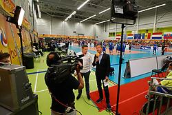 20170525 NED: 2018 FIVB Volleyball World Championship qualification, Koog aan de Zaan<br />TV Coverage, Ziggo TV, Arjan Taaij, Bas van Veenendaal <br />©2017-FotoHoogendoorn.nl / Pim Waslander
