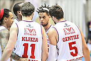 DESCRIZIONE : Final Eight Coppa Italia 2015 Desio Quarti di Finale Olimpia EA7 Emporio Armani Milano - Sidigas Scandone Avellino<br /> GIOCATORE : Team Olimpia EA7 Emporio Armani Milano<br /> CATEGORIA : Time Out Fair Play<br /> SQUADRA : Olimpia EA7 Emporio Armani Milano<br /> EVENTO : Final Eight Coppa Italia 2015 Desio<br /> GARA : Olimpia EA7 Emporio Armani Milano - Sidigas Scandone Avellino<br /> DATA : 20/02/2015<br /> SPORT : Pallacanestro <br /> AUTORE : Agenzia Ciamillo-Castoria/L.Canu