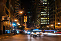 LaSalle Street & Chicago Board of Trade (Night)