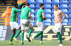 Brighton & Hove Albion's Anthony Knockaert (right) celebrates after the final whistle