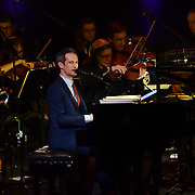 Anthony Strong is an English jazz singer, pianist and songwriter preforms at Jazz Voice - Festival opening gala at Royal Festival Hall on 16 Nov 2018, London, UK.