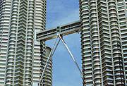 Detail of The Petronas Towers in Kuala Lumpur, Malaysia