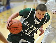 Elyria Catholic vs Oberlin boys varsity basketball on February 27, 2012.