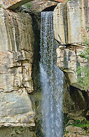 Lovers Leap waterfall at Rock city, Lookout Mt, Georgia, USA.