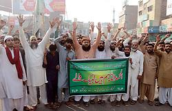 November 2, 2018 - Pakistan - MULTAN, PAKISTAN, NOV 01: Activists of Tehreek-e-Labbaik (TLP) are holding protest .demonstration against the acquittal of Christian blasphemy convict Aasia Bibi, in Multan on .Thursday, November 01, 2018. (Credit Image: © PPI via ZUMA Wire)