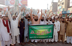November 2, 2018 - Pakistan - MULTAN, PAKISTAN, NOV 01: Activists of Tehreek-e-Labbaik (TLP) are holding protest .demonstration against the acquittal of Christian blasphemy convict Aasia Bibi, in Multan on .Thursday, November 01, 2018. (Credit Image: © PPI via ZUMA Wire)