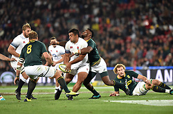 South Africa Springboks player battles for the ball with of England during the first test at the Ellis Park stadium, Johannesburg.<br />Picture: Itumeleng English/African News Agency (ANA)