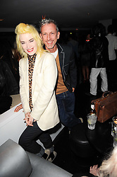 PAM HOGG and PATRICK COX at the W Hotels & American Express launch for the James Small collection at Number One Leicester Square, London on 22nd September 2010.