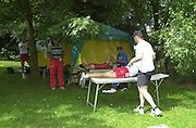 2002 FISA World Cup. Hazewinkel. BEL.       Friday  14/06/2002     .email images@Intersport-images.com.[Mandatory Credit: Peter Spurrier/Intersport Images]  .                                 /06/2002.Rowing    .General Views BLOSO Rowing Centre. Physio's working. Rowing, FISA WC.Hazenwinkel, BEL
