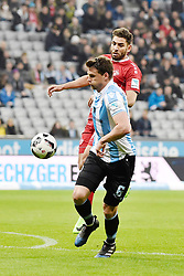 17.03.2017, Allianz Arena, Muenchen, GER, 2. FBL, TSV 1860 Muenchen vs Würzburger Kickers, 25. Runde, im Bild Maximilian Wittek (TSV 1860 Muenchen), Nejmeddin Daghfous (FC Wuerzbuger Kickers), v.li. #a // during the 2nd German Bundesliga 25th round match between TSV 1860 Muenchen and Würzburger Kickers at the Allianz Arena in Muenchen, Germany on 2017/03/17. EXPA Pictures © 2017, PhotoCredit: EXPA/ Eibner-Pressefoto/ Buthmann<br /> <br /> *****ATTENTION - OUT of GER*****