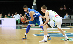 Konstantinos Vasileiadis of Greece vs Klemen Prepelic of Slovenia during friendly match between National Teams of Slovenia and Greece before World Championship Spain 2014 on August 17, 2014 in Kaunas, Lithuania. Photo by Robertas Dackus / Sportida.com
