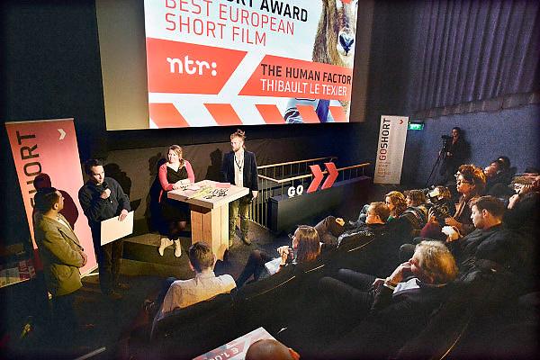 Nederland, Nijmegen, 16-3-2013Prijsuitreiking Go Short filmfestival. Winnaar beste europese korte film Thibault le Texier uit Frankrijk.Foto: Flip Franssen/Hollandse Hoogte
