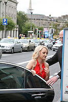Evanna Lynch  arrives at the Dublin Premiere of Harry Potter and the Deathly Hallows: Part 2 at the Savoy Cinema Dublin Ireland