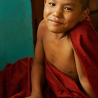 Young novice monk