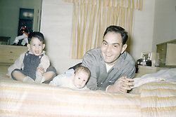 father and his two sons in 1960