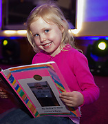 """07/04/2019 repro free: Siofra O Neill Kiltiernan NS with her book  """"All About me""""  at  Write a Book organised by The Galway Education centre and help at the Salthill Hotel  . Photo: Andrew Downes, Xposure"""