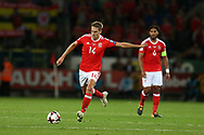 David Edwards of Wales in action. Wales v Austria , FIFA World Cup qualifier , European group D match at the Cardiff city Stadium in Cardiff , South Wales on Saturday 2nd September 2017. pic by Andrew Orchard, Andrew Orchard sports photography