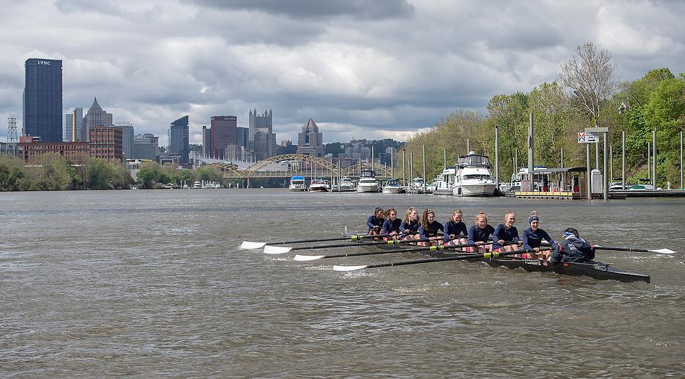 Robert Morris Rowing Senior Day vs. Duquesne (Photo by Justin Berl/Robert Morris Athletics)