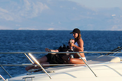 EXCLUSIVE: Wayne Rooney and Coleen Rooney spotted on boat in Mykonos during the sunset. 10 Jun 2017 Pictured: Wayne Rooney and Coleen Rooney. Photo credit: MEGA TheMegaAgency.com +1 888 505 6342