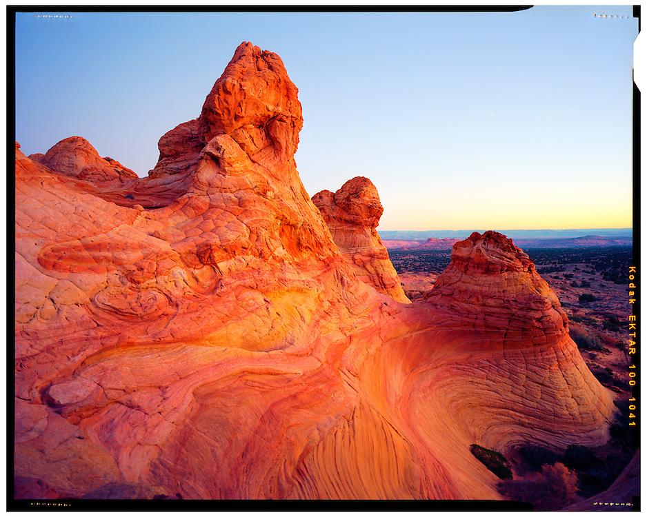 Coyote Buttes, AZ 11/7/2015<br /> Sunrise over South Coyote Buttes<br /> f/5.6, 14 second exposure on Kodak Ektar film<br /> Alex Jones / www.alexjonesphoto.com