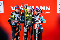 Nilsson Stina of Sweden, Jacobsen Astrid Uhrenholdt and Weng Heidi of Norway during Ladies 1.2 km Free Sprint race at FIS Cross Country World Cup Planica 2016, on January 16, 2016 at Planica, Slovenia. Photo By Grega Valancic / Sportida