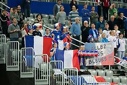 17-12-2014 CRO: EHF EK Nederland - Frankrijk, Zagreb<br /> Fans of France before handball match between Netherlands and France at 11th EHF European Women's Handball Championship Hungary-Croatia 2014<br /> <br /> *** USE NETHERLANDS ONLY ***