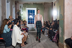 Models on the catwalk at the Burberry London Fashion Week SS18 show, held at the Old Sessions House, London. Picture date: Saturday September 16th, 2017. Photo credit should read: Matt Crossick/ EMPICS Entertainment.