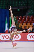 Nicole Piredda  atleta della Società Ritmica Nervianese durante la seconda prova del Campionato Italiano di Ginnastica Ritmica.<br /> La gara si è svolta a Desio il 31 ottobre 2015.