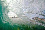 Pier Tube Wave in San Clemente
