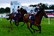 Blue Eagle ridden by Stevie Donohoe and trained by Charlie Fellowes ridden in the Sky Sports Racing Sky 415 Novice Stakes - Mandatory by-line: Ryan Hiscott/JMP - 24/08/20 - HORSE RACING - Bath Racecourse - Bath, England - Bath Races