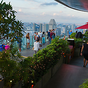 Skypark observation deck and Sky Bar Ce La Vi In Marina Bay Sands hotel, Singapore