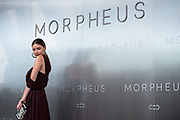 Hong Kong supermodel Gaile Lok poses for photographers on the red carpet, during Melco Morpheus building Opening in Macau, China, on 15 June 2018. Photo by Lucas Schifres