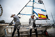 The 2020 49er, 49erFX and Nacra 17 World Championships in Geelong, Australia. 15th February 2020. Photo: Drew Malcolm Photography.