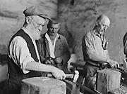 Men working at Zeilinger Scythe Works, Knittelfeld, Austria, c1933