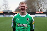 AFC Wimbledon goalkeeper Aaron Ramsdale (35) in AFC Wimbledon home kit during the EFL Sky Bet League 1 match between AFC Wimbledon and Barnsley at the Cherry Red Records Stadium, Kingston, England on 19 January 2019.