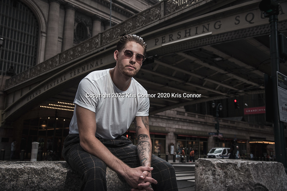 Podcaster & actor Alex Beaudreault photographed in front of Grand Central Station on July 7th, 2020 in New York City. Photo by Kris Connor