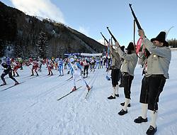 22.01.2012, Loipe Obertilliach, AUT, 38. Dolomitenlauf, Freestyle, im Bild Startschuss, EXPA Pictures © 2012, PhotoCredit: EXPA/ M. Gruber