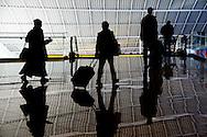 Passengers race to their airplanes at Baltimore Washington International Airport (BWI)